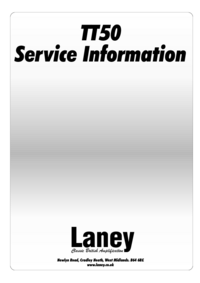 Manuale di servizio Laney TT50