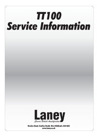 Manual de servicio Laney TT100