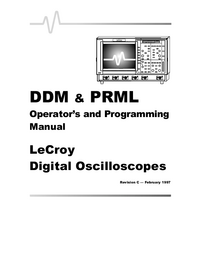 Bedienungsanleitung LeCroy PRML Option
