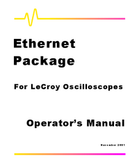 User Manual LeCroy Ethernet Package