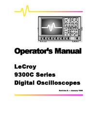 User Manual LeCroy 9384C Series