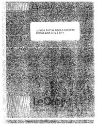 Instrukcja obsługi LeCroy 9304