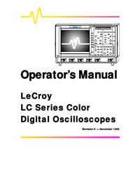 Manual del usuario LeCroy LC375