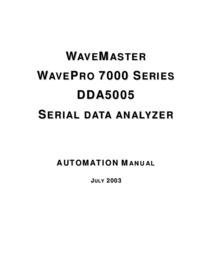 Manual del usuario LeCroy WavePro 7000 Series