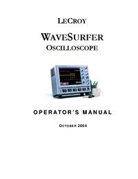 User Manual LeCroy WaveSurfer 424