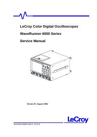 Manual de servicio LeCroy WaveRunner 6200