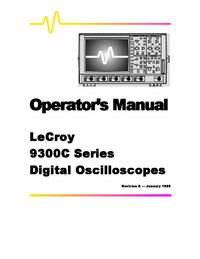 User Manual LeCroy 9300C
