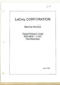 Руководство по техническому обслуживанию LeCroy 7242