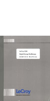 Servicehandboek LeCroy 9320