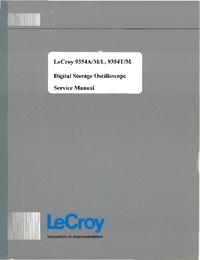 Serviceanleitung LeCroy 9354T