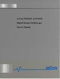 Manuale di servizio LeCroy 9374TM