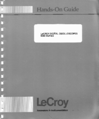 Manuel de l'utilisateur LeCroy 9300 series