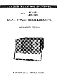 Manuale d'uso, Cirquit Diagramma Leader LBO-523