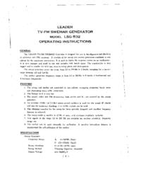 Gebruikershandleiding, Schema Leader LSG-532