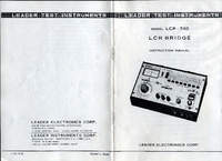User Manual with schematics Leader LCR-740