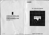 User Manual with schematics Leader LMV-181B