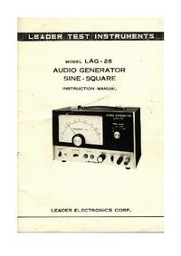 Service and User Manual - Leader LAG-26 - Generator -- Download free