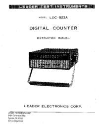 Service- und Bedienungsanleitung Leader LDC-823A