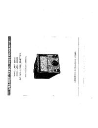 Servizio e manuale utente Leader LVM-181B