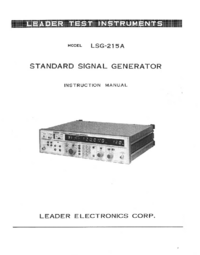 Manuale d'uso Leader LSG-215 A