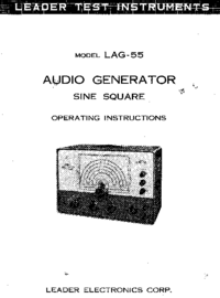 Service and User Manual Leader LAG-55