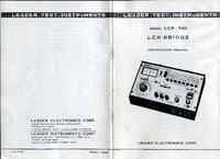 Servizio e manuale utente Leader LCR-740