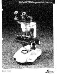 Instrukcja serwisowa Leica BF200