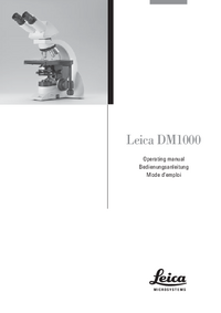 Manuel de l'utilisateur Leica DM1000