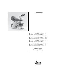User Manual Leica DM4500 P