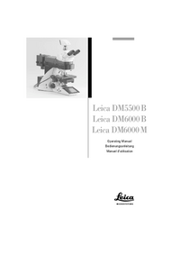User Manual Leica DM6000 B