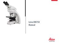 Instrukcja obsługi Leica DM750