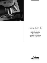 Manuel de l'utilisateur Leica DM E