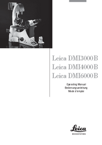 Manual del usuario Leica DMI4000B