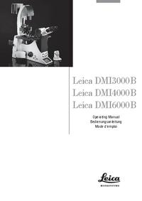 Instrukcja obsługi Leica DMI6000B
