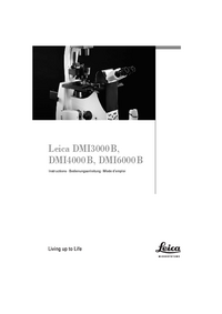 Manual del usuario Leica DMI3000 B