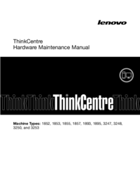 Manual de servicio Lenovo ThinkCentre 1857