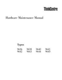 Instrukcja serwisowa Lenovo ThinkCentre 9641