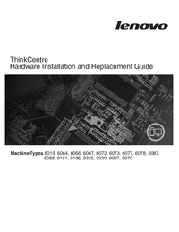 Manual de servicio Lenovo ThinkCentre 6019