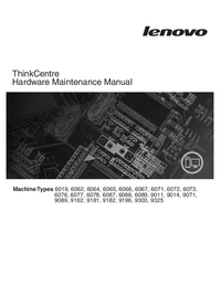 manuel de réparation Lenovo ThinkCentre 6062