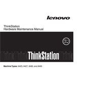Manual de servicio Lenovo ThinkStation 6427