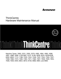 Service Manual Lenovo ThinkCentre 8910