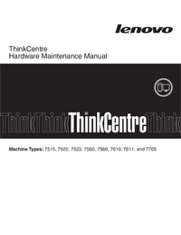 manuel de réparation Lenovo ThinkCentre 7705