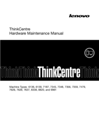manuel de réparation Lenovo ThinkCentre 7629