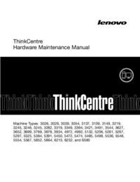 Manual de servicio Lenovo ThinkCentre 3039