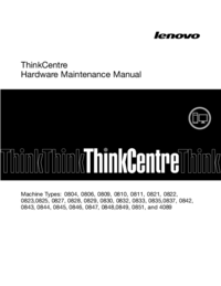 Service Manual Lenovo ThinkCentre 0843