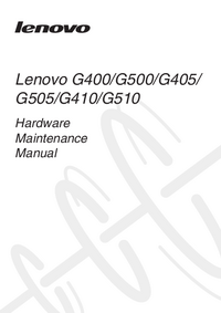 manuel de réparation Lenovo G510