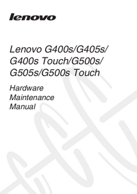 Service Manual Lenovo G500s Touch