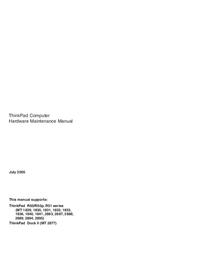 Instrukcja serwisowa Lenovo ThinkPad R51 series