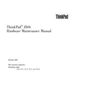 Servicehandboek Lenovo ThinkPad Z60t