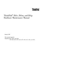 Service Manual Lenovo ThinkPad Z61p